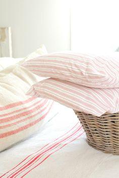 Pillowcases. Ticking. #pink