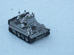 """1/24th scale Panzer Mk VI """"Tiger I"""" w/ tank riders."""