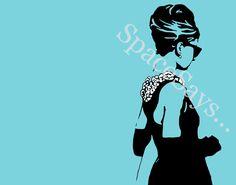 #Audrey Hepburn Breakfast at Tiffany's hand painted #art