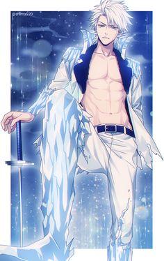 Oh damn Toshiro 😍 - anime Anime Sexy, Hot Anime Boy, Cute Anime Guys, Anime Boys, Bleach Manga, Bleach Fanart, Bleach Anime Funny, Anime Cosplay, Manga Boy