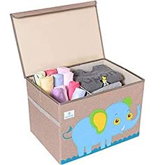 Perfect for your Baby and Nursery BEARCUBS Kids Foldable Toy Chest – Storage and Organization Toy Box with Lid Organizer Trunk for Nursery Playroom – Cute Animal Decor for Boys and Girls,BEARCUBS Kids Foldable Toy Chest - Storage and Organization Toy Box with Lid Organizer Trunk for Nursery Playroom - Cute Animal Decor for Boys and Girls, Help your toddler develop clean up habits with Bearcubs...
