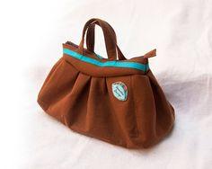Pleated handbag, designer purse, big zippered handbag, elegant stylish bag, everyday bag, evening handbag, personalized bag, gift for women - pinned by pin4etsy.com