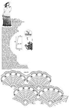 CARAMELO DE CROCHET: falda abanicos