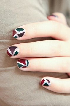 #nail #design geometric nail art