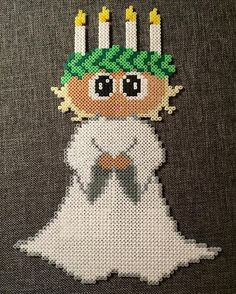 ( Nu i hel figur ❤️ Christmas Perler Beads, Diy Christmas, Christmas Ornaments, Hama Beads, Bead Crafts, Advent, Crafting, Holiday Decor, Art