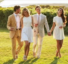 couple style /southern/white dresses/ bow ties/ preppy