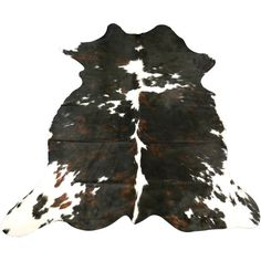 E-338 New Tricolor Brindle Cowhide Rug With White Speckles Size 7 X 6... ($219) ❤ liked on Polyvore featuring home, rugs, floor & rugs, grey, home & living, grey white rug, white cowhide rug, cow rug, colorful rugs and white area rug