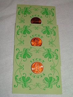 Patrick's Day Cards You Can Print for Free: Lucky Penny St. Patrick's Day Cards by Pumpkin Petunia Holiday Crafts, Holiday Fun, Holiday Ideas, Holiday Style, Holiday Parties, St. Patricks Day, Lucky Penny, St Paddys Day, Luck Of The Irish
