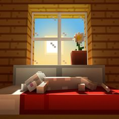 Sleeping cat in the morning, small wallpaper I made : Minecraft Minecraft Cat, Minecraft Cottage, Minecraft Drawings, Minecraft Pictures, Minecraft Blueprints, Minecraft Fan Art, Minecraft Creations, Minecraft Designs, Minecraft Architecture