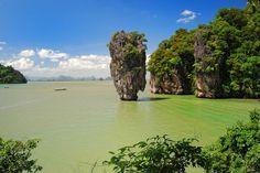 l'île de Koh Tapu en Thaïlande.