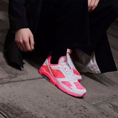 big sale 3b8ab d62bc Comme des Garcons Homme Plus White and Pink Nike Edition Air Max 180  Sneakers