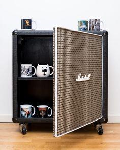 Home Studio Desk, Home Studio Music, Lofts, Marshall Furniture, Music Furniture, Sound Room, Guitar Cabinet, Convertible Furniture, Green Interior Design