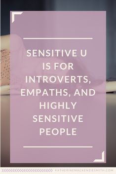 Sensitive U is here! Introvert Quotes, Introvert Problems, Highly Sensitive Person, Sensitive People, Free Youtube, It's Meant To Be, Personal Development, Healing, Motivation