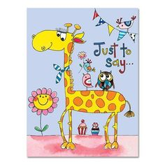 Party Ark's 'Giraffe Thank You Cards'