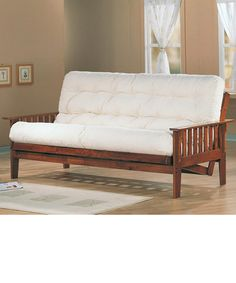 White Futon With Arms Sofa Bed Wooden Ikea