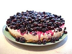 Blueberry cheesecake. Half syn for the WHOLE ENTIRE CAKE!!!!!!!!!!!!