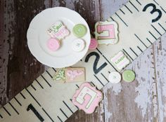 Sewing Machine and Button Sugar Cookies by Snickety Snacks