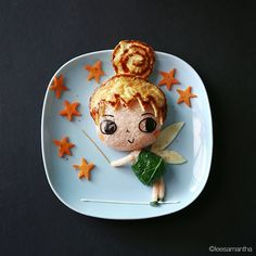 Tinker Bell ✨  These characters made out of food are amazing! Samantha Lee is so talented, check out the other Disney characters that she created!