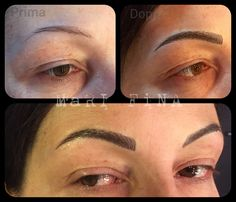 Eyebrowns tattoo PERMANENT MAKE - Up  Sopracciglia tatuate  Tattoo Artist : Mari Fina  www.subliminaltattoo.it