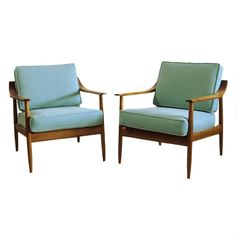 Superbe Set Of Two Armchairs Antimott By Wilhelm Knoll, 1950 1960