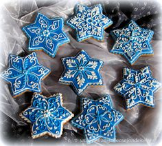 New cookies christmas star 42 ideas Christmas Sugar Cookies, Christmas Gingerbread, Christmas Star, Holiday Cookies, Christmas Baking, Gingerbread Cookies, Christmas Cards, Super Cookies, Fancy Cookies