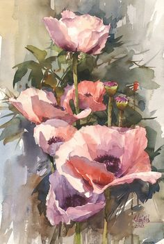 Page 2 « Цветы | Сергей Алексеев Watercolor Rose, Abstract Watercolor, Watercolor Paintings, Spa Art, Floral Artwork, Botanical Drawings, Anime Comics, Artist Art, Flower Art