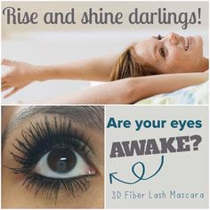 Wakey Wakey! Make sure to awaken your GORGEOUS eyes with Younique's 3D Fiber Lash Mascara!!! It's made from green tea fibers and are SAFE for all ages and GLUTEN-FREE! You will LOOOOOVE your LONGEST lashes!!! It's only $29 for a three month supply! You also get a 14 day moneyback guarantee!!! CLICK ON PIC to order: http://www.thoselovelylashes.com