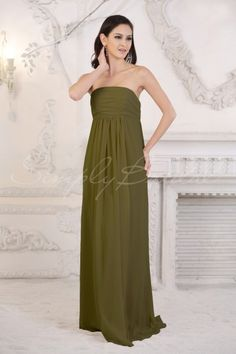 Simply Bridal (online and Los Angeles) $99 Floor-Length Strapless Pleated Chiffon Dress