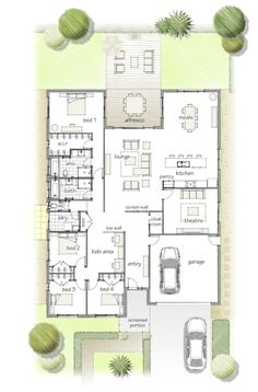 This is pretty much perfect. floor plan. I would want one more bathroom