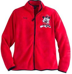 Mickey and Minnie Mouse Fleece Jacket for Women - Personalizable: Get it for $22.00 (was $29.95) #coupons #discounts