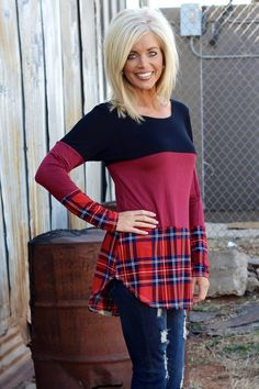 Our Plaid Colorblock Top with Floral Crochet Back is made of Rayon and Spandex. It measures long from shoulder to hem. The sizing available is and Hairstyles Pictures, Hair Pictures, Thin Hair Cuts, Blonde Bob Hairstyles, One Faith Boutique, Color Blocking, Haircuts, Hair Beauty, Spandex