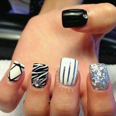 Black | white | glitter | zebra