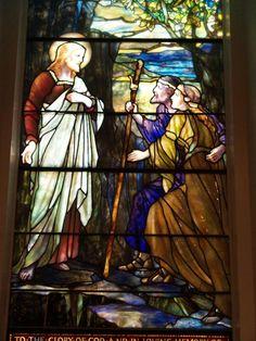 Description: Lockport, New York (NY): First Presbyterian Church: They Came to the Master (Tiffany Studios)