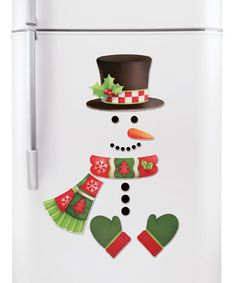 Christmas Snowman Kitchen Refrigerator Magnets