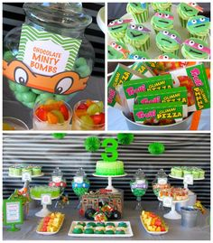 Teenage Mutant Ninja Turtles themed birthday party with so many great ideas via Kara's Party Ideas KarasPartyIdeas.com #TMNT #tmntparty #tee...