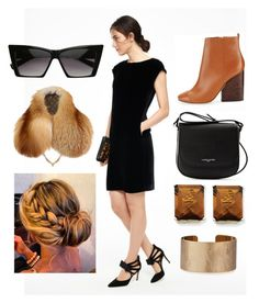 """""""Black and brown"""" by gabrielle-spinelli on Polyvore featuring Boden, Tory Burch, Lancaster, Epic, Kevin Jewelers and Panacea"""
