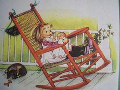 A little dachshund in this Eloise Wilkin illustration....