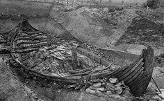 Osebergskipet under utgraving