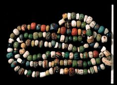 Viking beads found at the Fröjel excavations... #sweden
