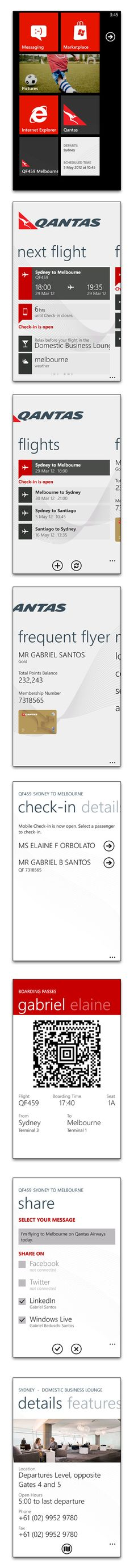 """Qantas app for Windows Phone *** """" Travel with the Qantas app on your next journey. You'll get push notifications about check-in times, flight status updates and directions to the airport sent straight to your phone. You can also check-in, locate lounges and pin your upcoming flights to the start screen. """""""