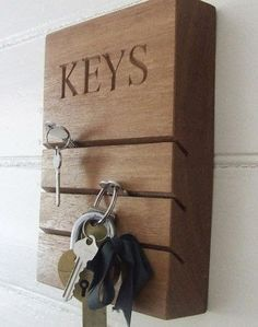80 fantastic ideas for organizational structures of your keys!