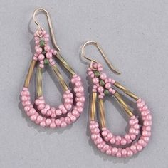 Trade Wind Earrings Warm Front Seed Bead Jewelry, Seed Bead Earrings, Cute Earrings, Beaded Jewelry, Handmade Jewelry, Beaded Bracelets, Seed Beads, Beaded Earrings Patterns, Necklaces