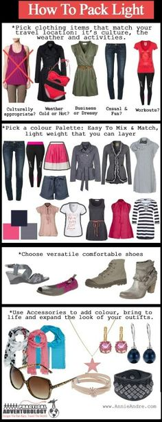 FSJet Days Countries Clothing Items Clothing Items - 8 tips on how to pack light for your next vacation