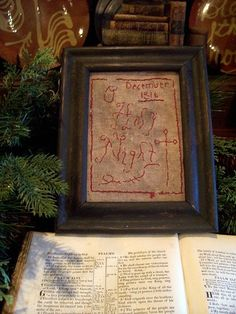 EARLY INSPIRED ~NAIVE~ O HOLY NIGHT 1816 SAMPLER~ (LB)  Seller Name: theprimitivestitcher