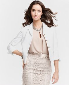 Petite Compact Doubleweave Cropped Jacket