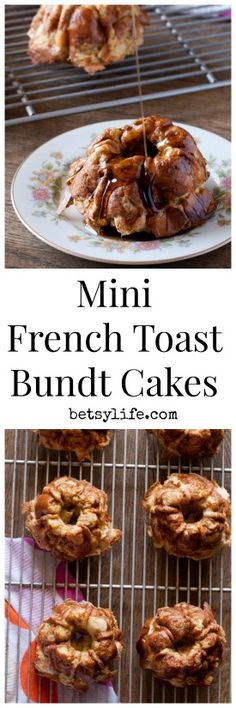 Mother's Day is right around the corner and these Mini French Toast Bundt Cakes are great for brunch! An easy recipe that is great for using up leftover eggs and syrup too