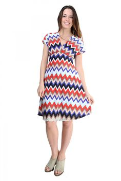c5a187c87b Look what I found on Red & Blue Zigzag Surplice Dress - Women & Plus by. Comfort  Apparel