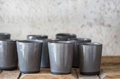 Espresso Mug Set Grey Ceramic Mug Modern Ceramic Mug Coffee