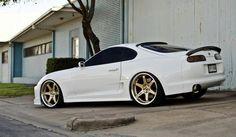 Toyota Supra. White & Gold!!