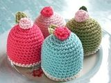 #shabby egg cosies Big Knits, Rose Cottage, Beautiful Things, Egg, Shabby Chic, Socks, Easter, Knitting, How To Make